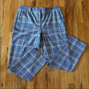 ✨ Nordstrom Signature | Bison Plaid Crop Pants